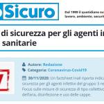 PuntoSicuro - Inail: misure di sicurezza per gli agenti infettivi nelle attività sanitarie