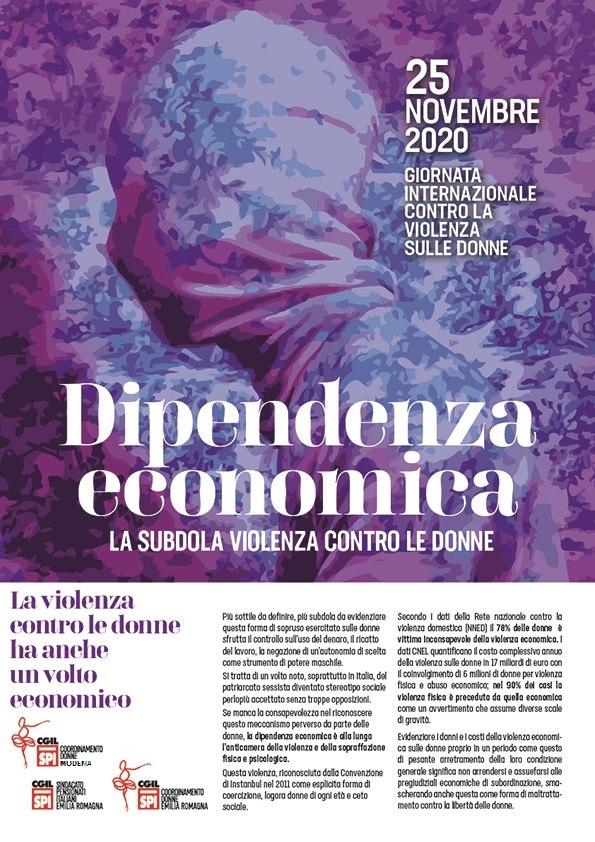 25 novembre dipendenza economica Spi Mo+ER