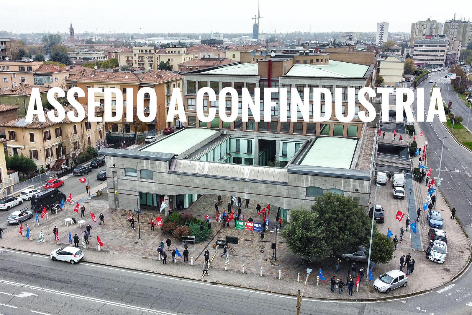 presidio confindustria sciopero metalmeccanici, 5.11.20