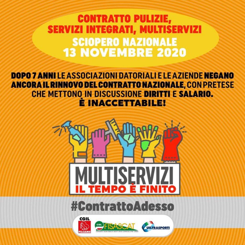 sciopero multiservizi 13.11.20