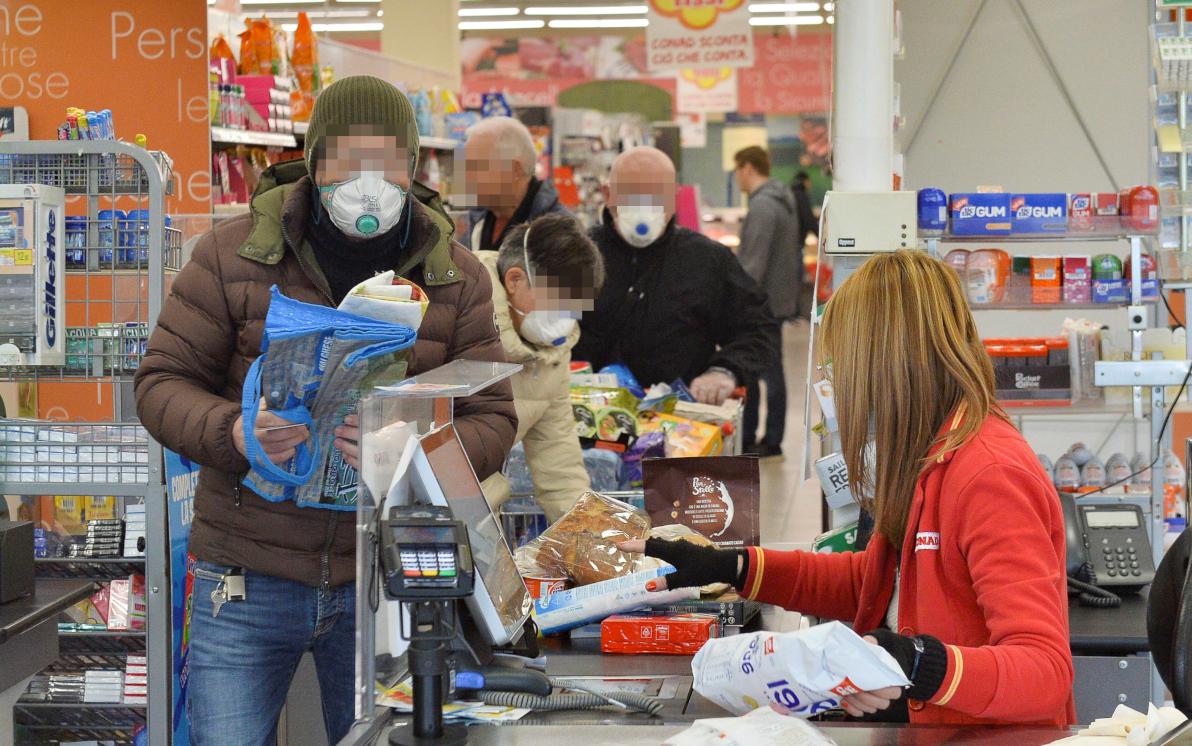 supermercati spesa mascherina
