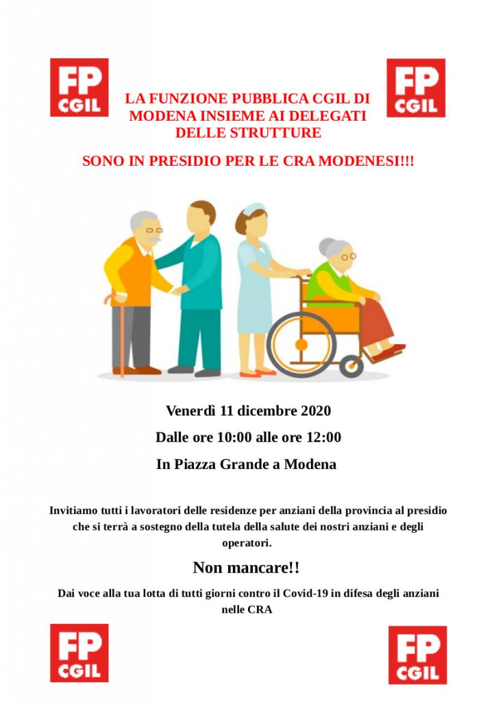 Presidio per le CRA modenesi - 11/12/2020