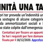 Decreto Ristori Ter: indennità una tantum (aggiornato al 4/12/2020)