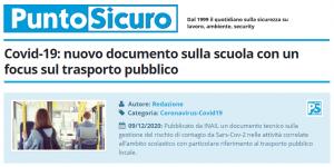 PuntoSicuro - Covid-19: nuovo documento sulla scuola con un focus sul trasporto pubblico