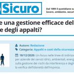 PuntoSicuro - Come attuare una gestione efficace delle interferenze e degli appalti?