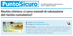 PuntoSicuro - Rischio chimico: ci sono metodi di valutazione del rischio cumulativo?