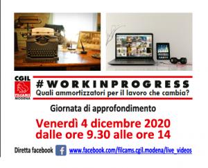 #workingprogress ammortizzatori sociali Filcams 4.12.20