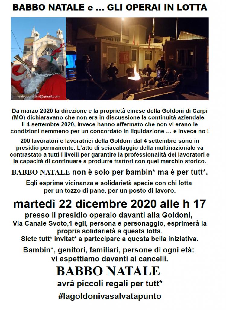 Goldoni (5) VOLANTINO Babbo Natale