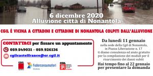 Alluvione Nonantola (6/12/2020) - Sostegno Cgil Modena