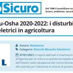 PuntoSicuro - Campagna Eu-Osha 2020-2022: i disturbi muscoloscheletrici in agricoltura