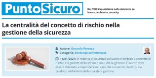 PuntoSicuro - La centralità del concetto di rischio nella gestione della sicurezza
