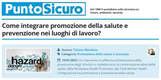 PuntoSicuro - Come integrare promozione della salute e prevenzione nei luoghi di lavoro?
