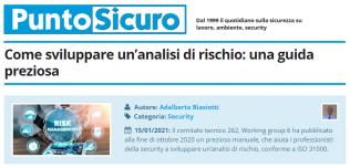 PuntoSicuro - Come sviluppare un'analisi di rischio: una guida preziosa