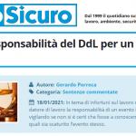 PuntoSicuro - Sulla non responsabilità del Datore di Lavoro per un infortunio