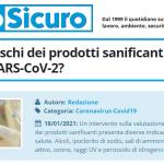 PuntoSicuro - Quali sono rischi dei prodotti sanificanti usati per il virus SARS-CoV-2?