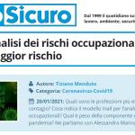 PuntoSicuro - COVID-19: analisi dei rischi occupazionali e attività a maggior rischio