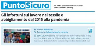 PuntoSicuro - Gli infortuni sul lavoro nel tessile e abbigliamento dal 2015 alla pandemia