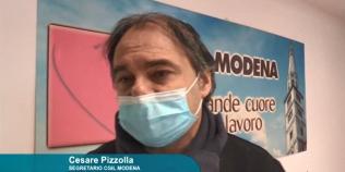 Cesare Pizzolla, componente della segreteria Cgil di Modena (25/1/2021)
