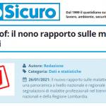 PuntoSicuro - Inail e Malprof: il nono rapporto sulle malattie professionali