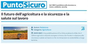 PuntoSicuro - Il futuro dell'agricoltura e la sicurezza e la salute sul lavoro