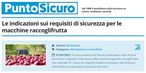 PuntoSicuro - Le indicazioni sui requisiti di sicurezza per le macchine raccoglifrutta