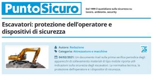 PuntoSicuro - Escavatori: protezione dell'operatore e dispositivi di sicurezza