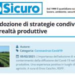 PuntoSicuro - COVID-19: l'adozione di strategie condivise nelle grandi realtà produttive