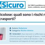 PuntoSicuro - Sostanze pericolose: quali sono i rischi nel tessile e nei trasporti?