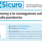 PuntoSicuro - La green economy e le conseguenze sulla sicurezza e sulla pandemia