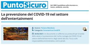 PuntoSicuro - La prevenzione del COVID-19 nel settore dell'entertainment ed eventi dal vivo