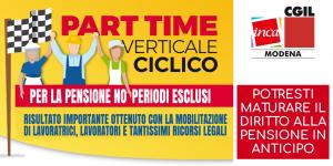 Part time verticale ciclico: finalmente un risultato importante conseguito dopo anni di iniziative sindacali e cause legali