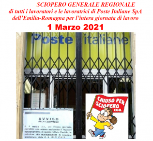 sciopero Poste Italiane 1.3