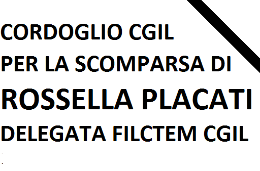 uccisione Rossella Placati delegata Filctem Haemotronic