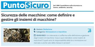 PuntoSicuro - Sicurezza delle macchine: come definire e gestire gli insiemi di macchine?