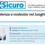 PuntoSicuro - Prevenire violenza e molestie nei luoghi di lavoro