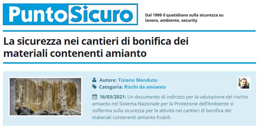 PuntoSicuro - La sicurezza nei cantieri di bonifica dei materiali contenenti amianto