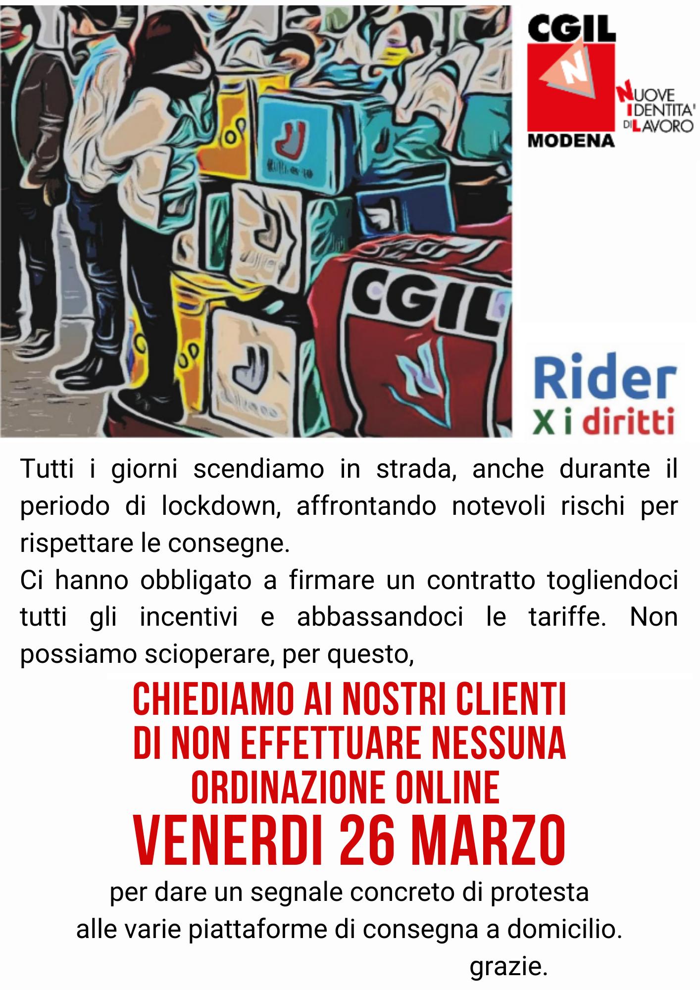 RiderXiDiritti - Protesta venerdì 26 marzo 2021 a Modena