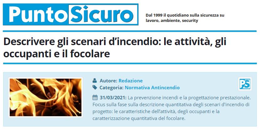 PuntoSicuro - Descrivere gli scenari d'incendio: le attività, gli occupanti e il focolare