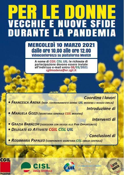 8 marzo 2021, per le donne vecchie e nuove sfide durante la pandemia