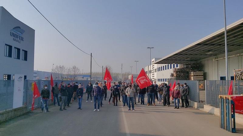 Unifer Navale Finale Emilia sciopero 26.3.21