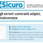 PuntoSicuro - Imparare dagli errori: contratti atipici, flessibilità e insicurezza