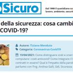 PuntoSicuro - Costi e oneri della sicurezza: cosa cambia con l'emergenza COVID-19?