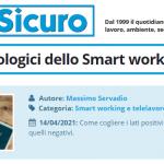 PuntoSicuro - Gli effetti psicologici dello Smart working