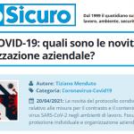 PuntoSicuro - Protocollo COVID-19: quali sono le novità per DPI e organizzazione aziendale?