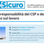 PuntoSicuro - Le eventuali responsabilità del CSP e del CSE per infortunio sul lavoro