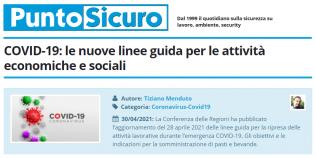 PuntoSicuro - COVID-19: le nuove linee guida per le attività economiche e sociali