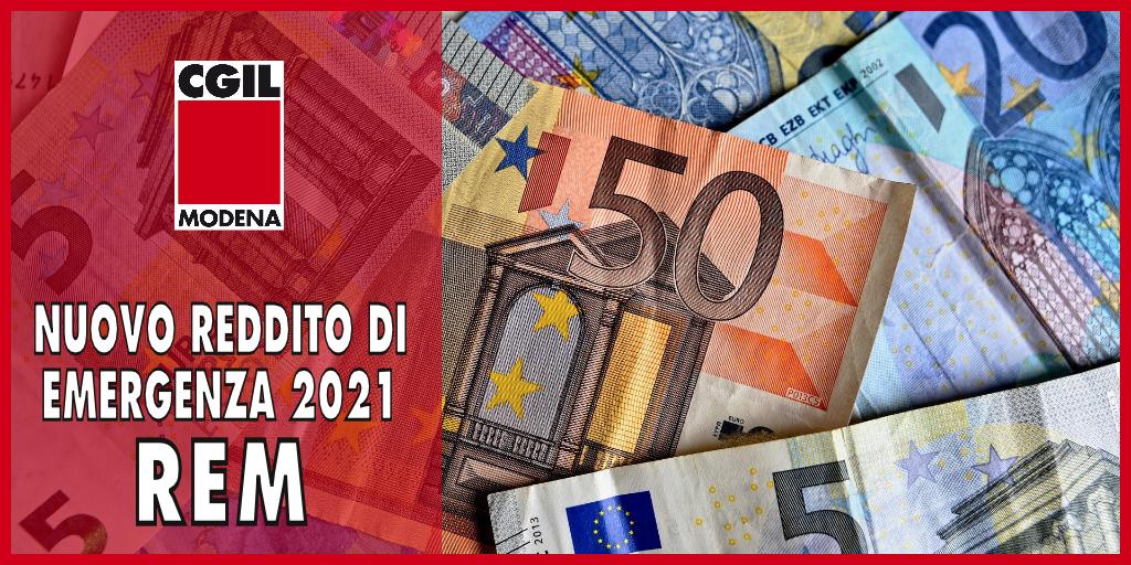 Nuovo Reddito di Emergenza 2021 (REM) - Cgil Modena