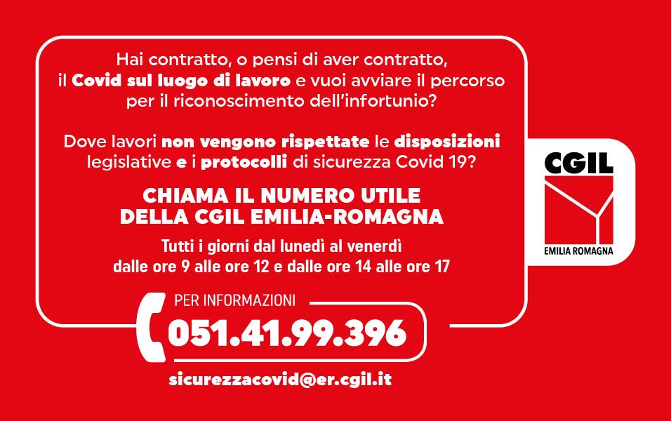 Attivo il numero utile 051 4199396 su salute e sicurezza Covid nei luoghi di lavoro
