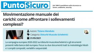 PuntoSicuro - Movimentazione manuale dei carichi: come affrontare i sollevamenti complessi?