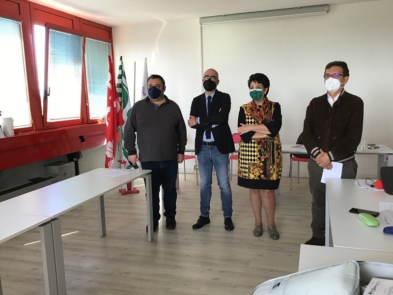 segretari sindacati scuola (da sx) P.Raimondo, C.Riso, A.Cozzo, G. Fontana